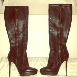 NEW JIMMY CHOO BLACK LEATHER BOOTS